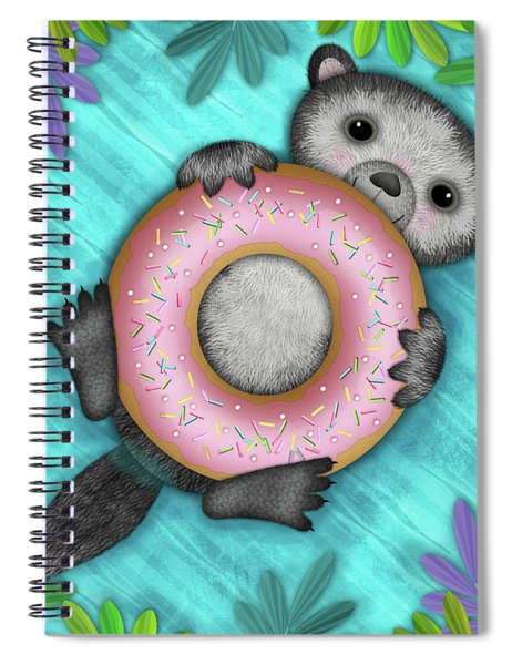 O Is For Otter With An O So Delicious Doughnut Spiral Notebook