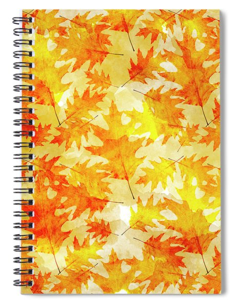 Oak Leaf Pattern Spiral Notebook
