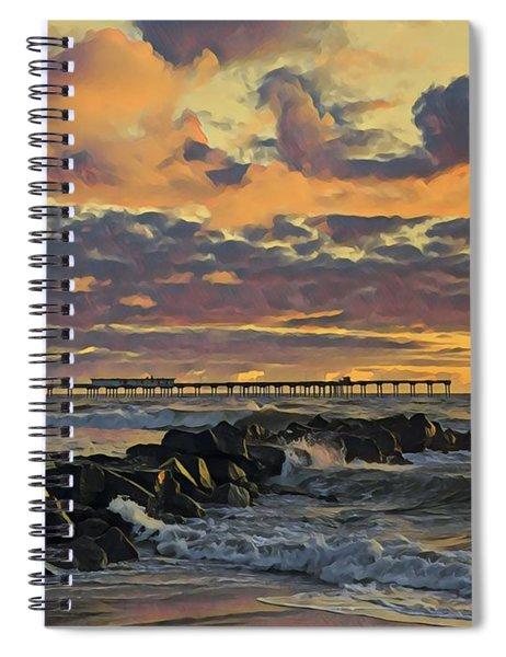 Ob Sunset No. 3 Spiral Notebook