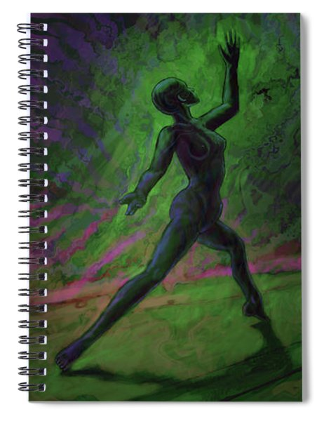 Obscured Dance Spiral Notebook