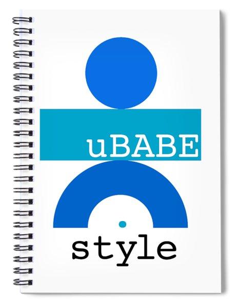 Ocean Blue Babe Spiral Notebook