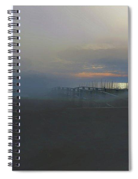 Ocean Mist Spiral Notebook by Gina Harrison