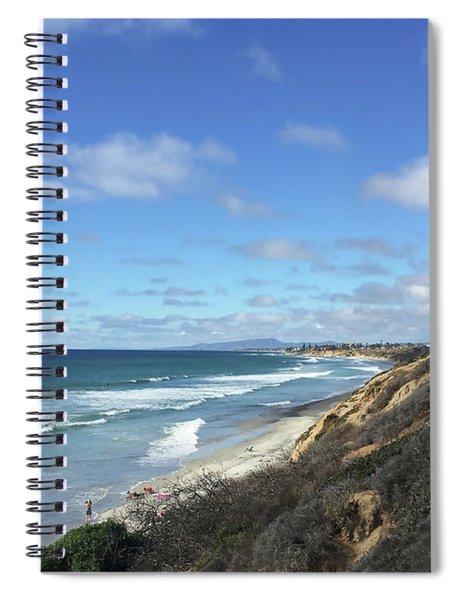 Ocean Surf In Carlsbad, California Spiral Notebook