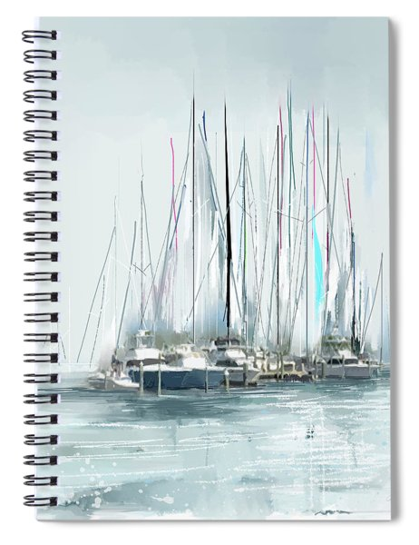 Spiral Notebook featuring the digital art Oceana Idyll by Gina Harrison