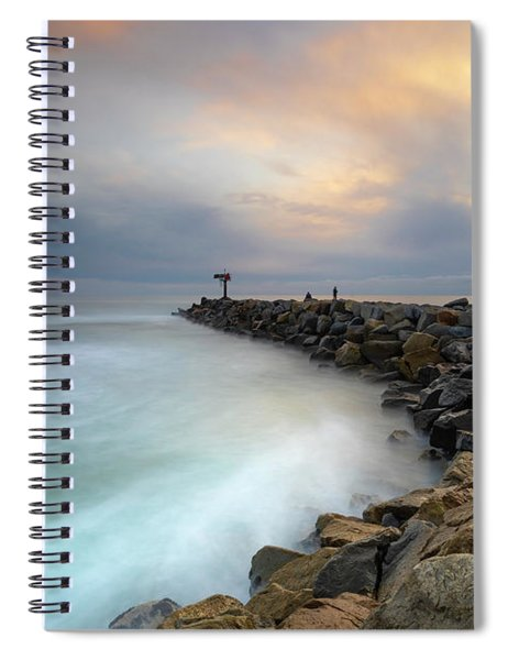 Oceanside Harbor Jetty Spiral Notebook