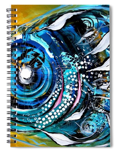 Ochre Fish Four Spiral Notebook