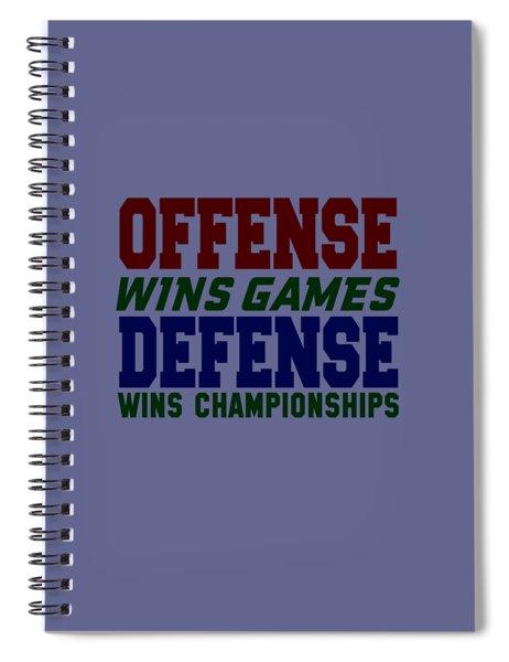 Offence Defense Spiral Notebook
