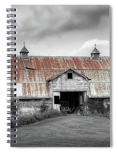 Ohio Barn In Black And White Spiral Notebook