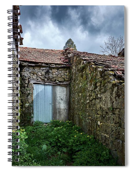 Old Abandoned House In Bainte Spiral Notebook