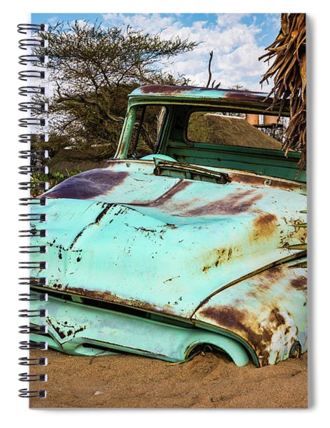 Old And Abandoned Car 2 In Solitaire, Namibia Spiral Notebook