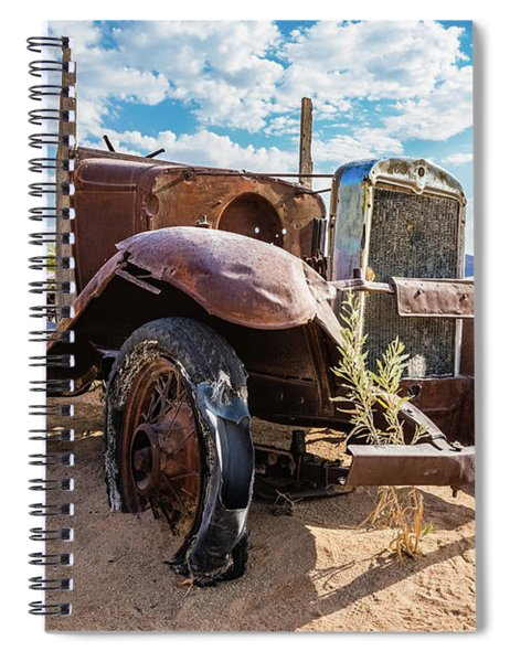Old And Abandoned Car 3 In Solitaire, Namibia Spiral Notebook