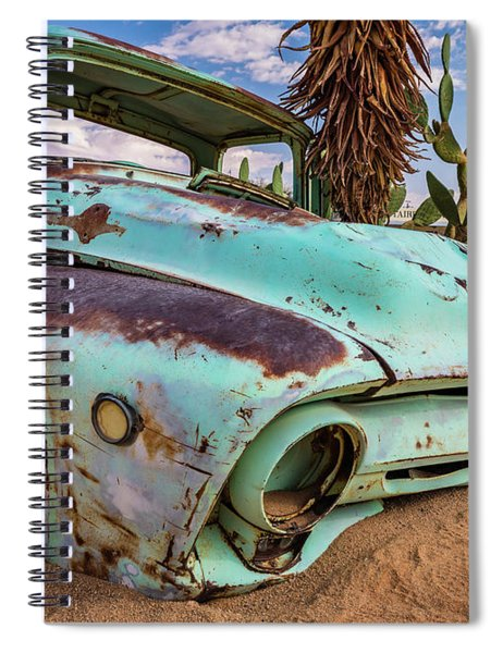 Old And Abandoned Car 7 In Solitaire, Namibia Spiral Notebook