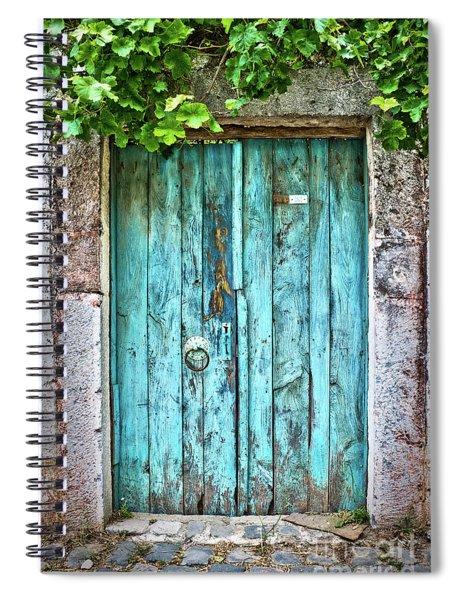 Old Blue Door Spiral Notebook