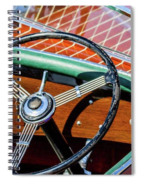 Old Boat Steering Wheel Spiral Notebook