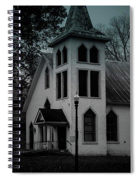 Old Church - Bw - Dark Spiral Notebook