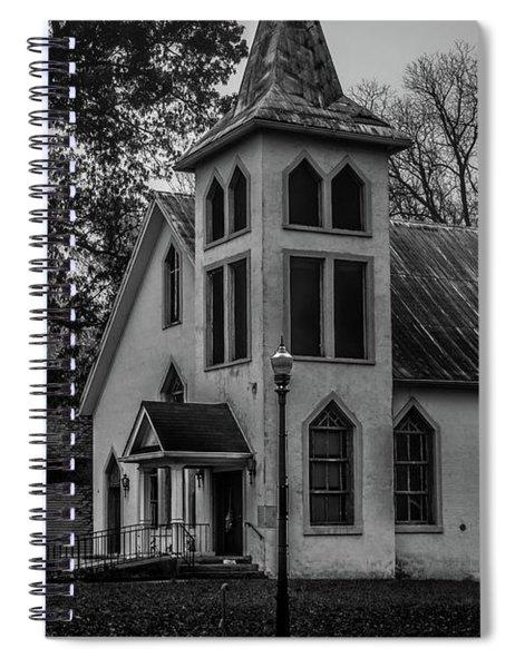 Old Church - Bw Spiral Notebook