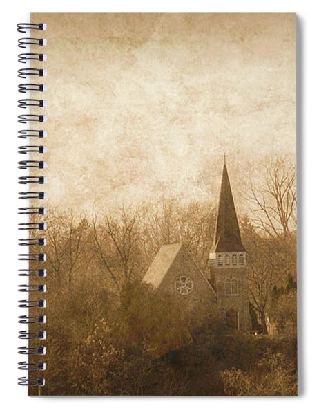 Old Church On A Hill  Spiral Notebook