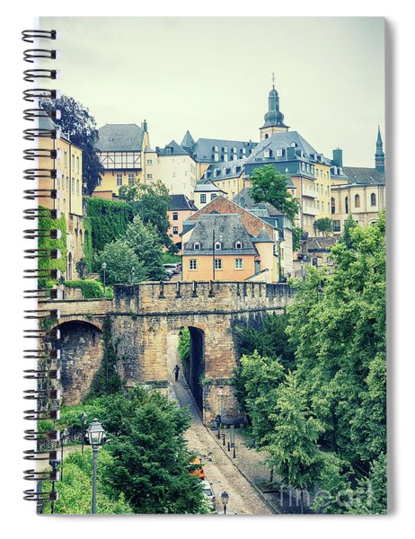 old city Luxembourg from above Spiral Notebook
