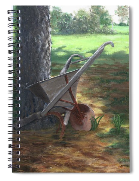 Old Farm Seeder, Louisiana Spiral Notebook