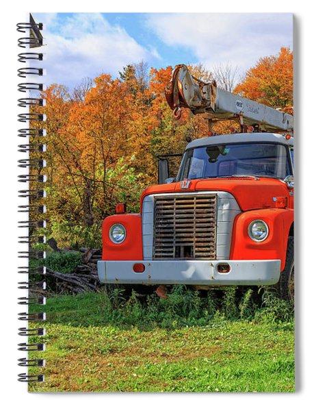 Old Fire Truck In Vermont Spiral Notebook