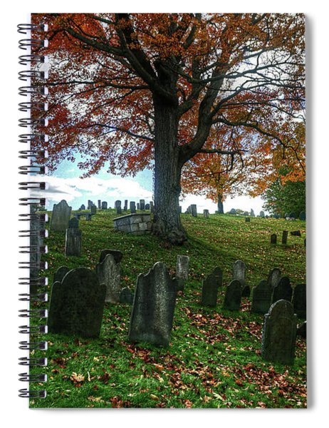 Old Hill Burying Ground In Autumn Spiral Notebook