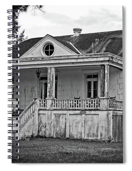 Old House Black And White Spiral Notebook
