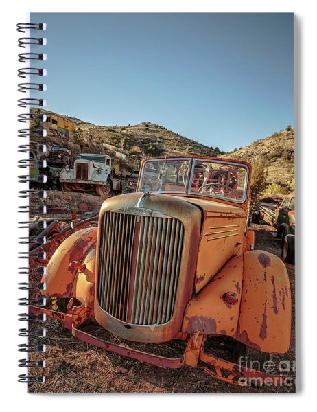 Old Mack Fire Engine Abandoned In Arizona Spiral Notebook