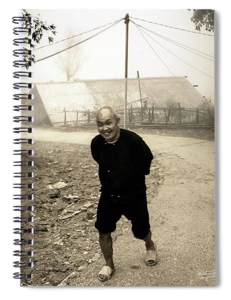 Old Man On Sapa Road, Vietnam Spiral Notebook
