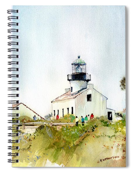 Old Point Loma Light Spiral Notebook
