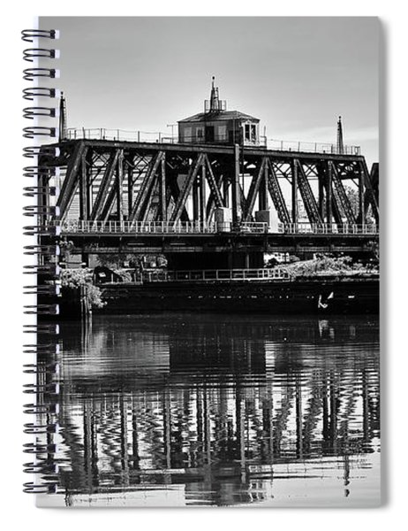 Old Railroad Swing Bridge Spiral Notebook