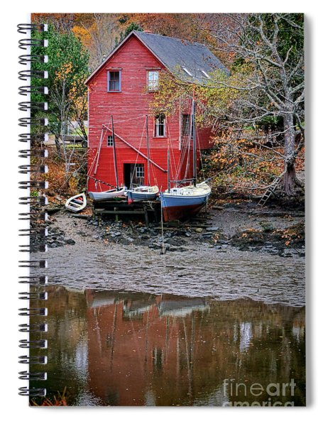 Old Red House In Maine Spiral Notebook