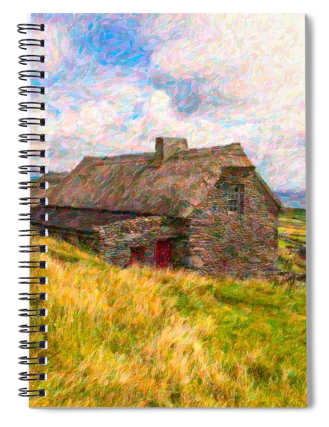 Old Scottish Farmhouse Spiral Notebook
