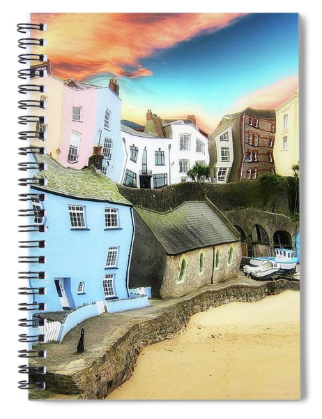 Old Sea Side Town  - Twisted Spiral Notebook