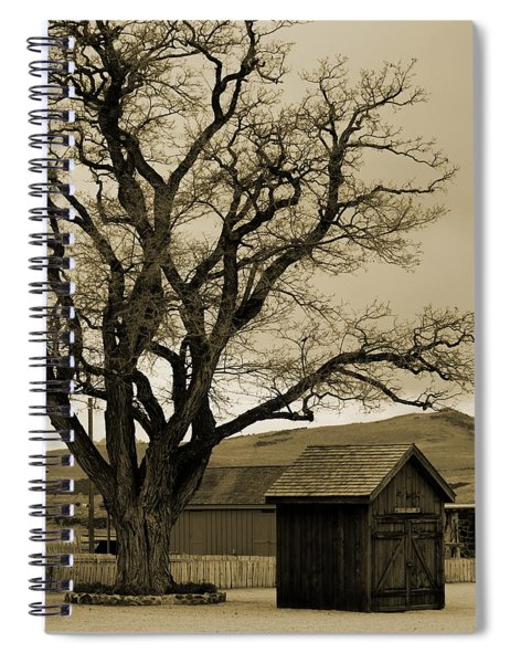 Old Shanty In Sepia Spiral Notebook