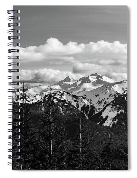 Old Snowy Mountain, Washington, 2017 Spiral Notebook
