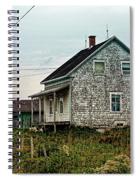 Old Weathered House In Atlantic Canada Spiral Notebook