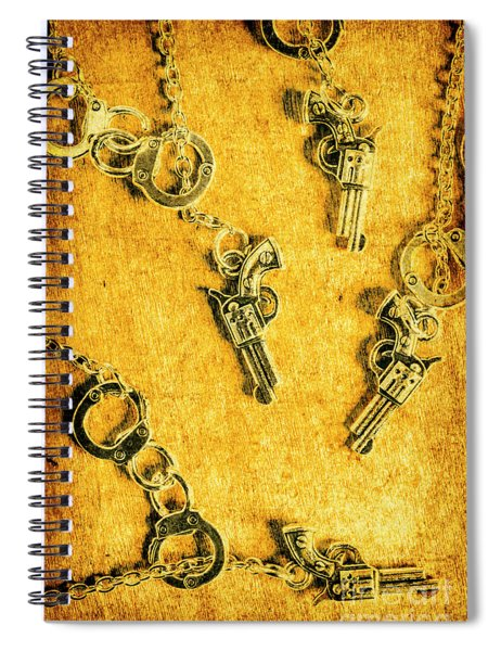Old Western Justice Spiral Notebook