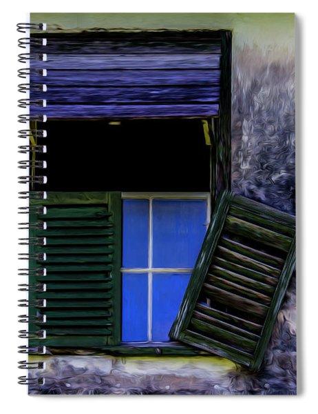 Old Window 2 Spiral Notebook
