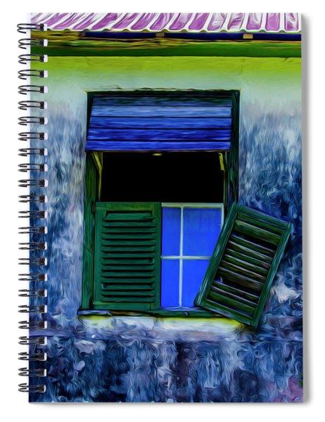 Old Window 3 Spiral Notebook