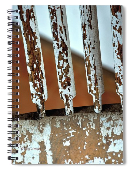 Old Wooden Chair Spindles Spiral Notebook