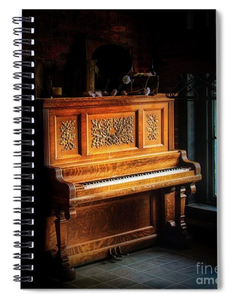 Old Wooden Piano Spiral Notebook