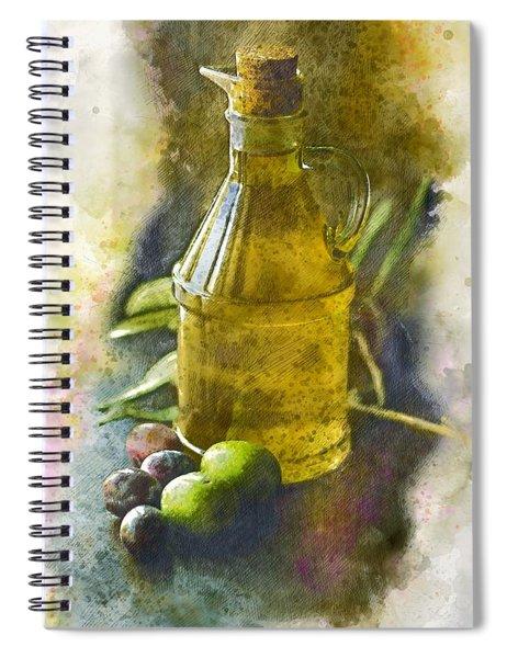 Olive Oil Spiral Notebook