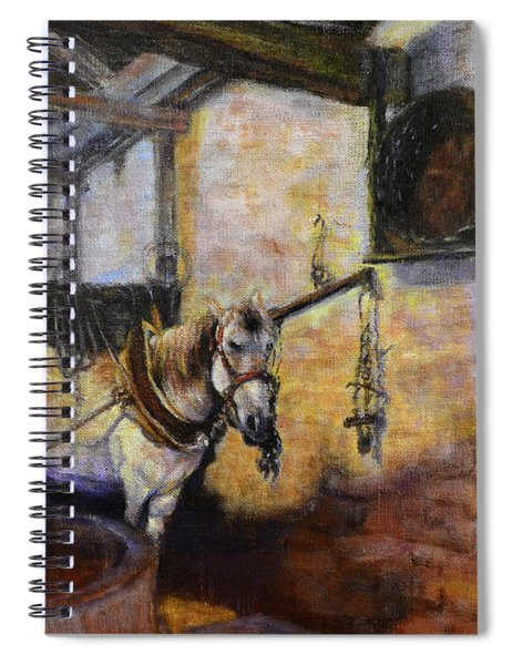 Olive Oil Mill Working Horse Spiral Notebook