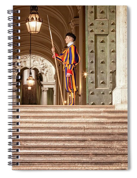 On Guard At The Vatican Spiral Notebook
