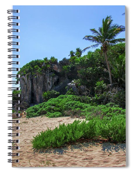 On The Coast Of Tulum Spiral Notebook