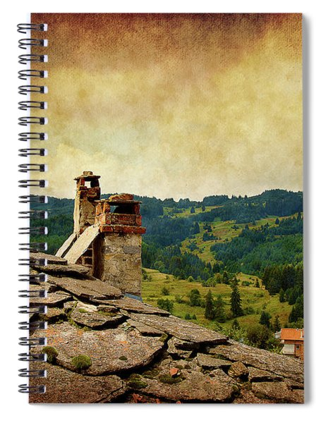 On The Top Of The Mountain Spiral Notebook