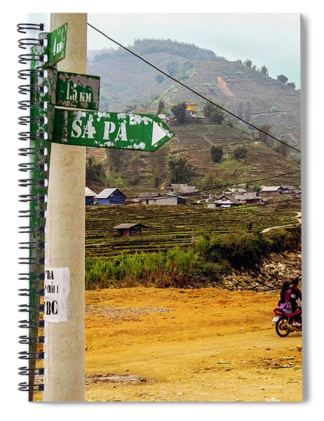 On The Way To Sapa, Vietnam Spiral Notebook