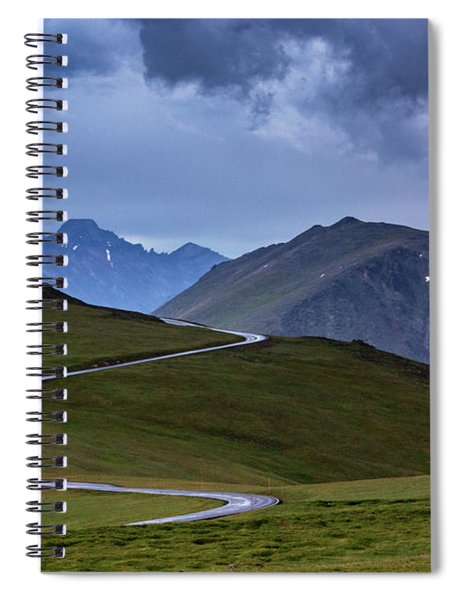 Spiral Notebook featuring the photograph On Top Of The World by John De Bord