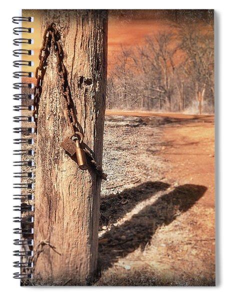 Open Locked Spiral Notebook