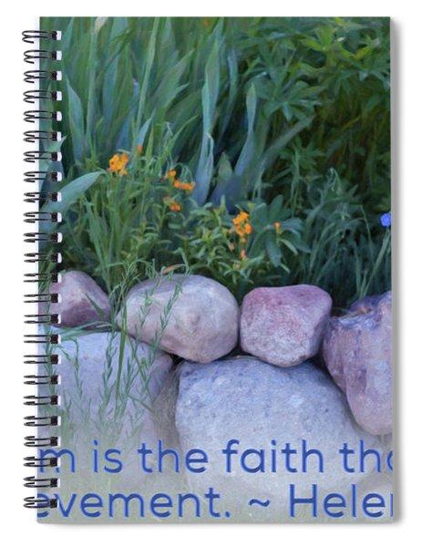 Optimism - Motivational Flower Art By Omaste Witkowski Spiral Notebook